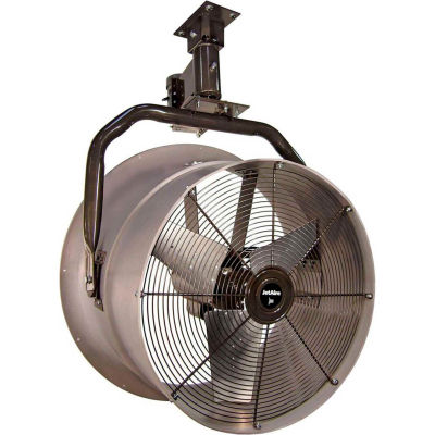 """Jetaire® 24"""" Oscillating Vertical Mount Fan With Poly Housing 1 HP, 230V, 3PH, 5900 CFM"""