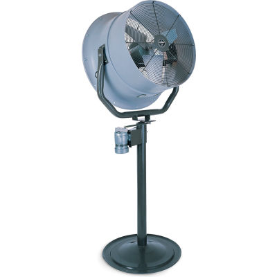 """Jetaire® 24"""" Oscillating Pedestal Fan With Poly Housing 1 HP, 230V, 3PH, 5900 CFM"""