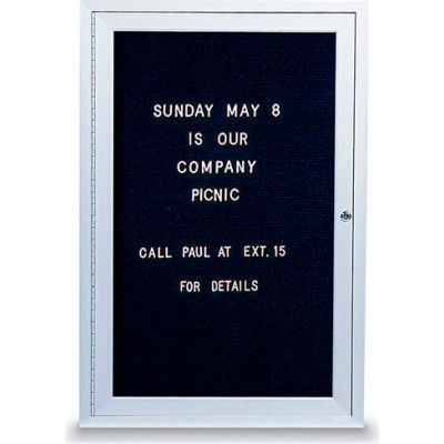 """United Visual Products One-Door Indoor Letter Board - 24""""W x 36""""H"""