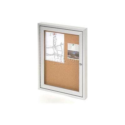 "United Visual Products One-Door Outdoor Corkboard - 24""W x 36"""