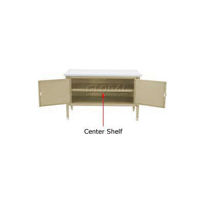 "Global Industrial™ 72"" Cabinet Center Shelf-Tan"