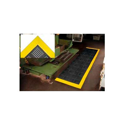 "NoTrax® Diamond Flex-Lok™ Anti Fatigue Drainage Mat 1"" Thick 2-1/2' x 3' Black/Yellow"