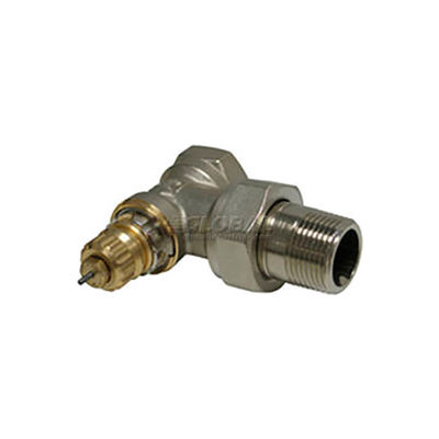 """Radiator or baseboard  valve body - 3/4"""" angle for 2-pipe steam"""