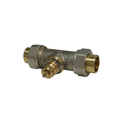 "Radiator or baseboard valve body - 3/4"" solder/union straight for 2-pipe steam"