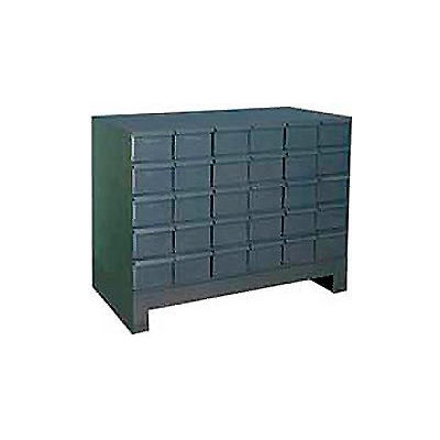 """Durham Steel Drawer Cabinet 024-95 - With 30 Drawers 34""""W x 11-3/4""""D x  26-7/8""""H"""