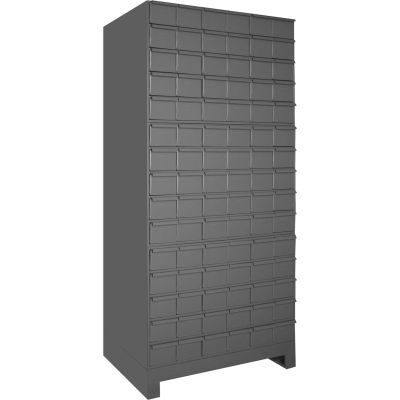 """Durham Steel Drawer Cabinet 026-95 - With 90 Drawers 34""""W x 11-3/4""""D x  69-1/8""""H"""