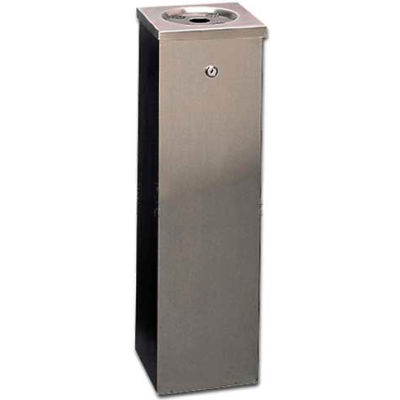 Flat Top Tower Outdoor Ashtray Stainless Steel