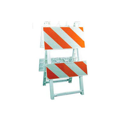 """Econocade Folding Traffic Barricade 42-3/5""""H With 4 Panels 4 Sheetings"""