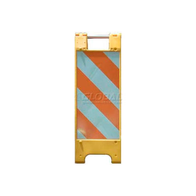 """Minicade Barricade Sign Stand 36""""H With 2 Panel 2 Sheetings"""