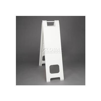 """Narrowcade Barricade Sign Stand 45"""" H With 2 Panels No Sheeting - Pkg Qty 2"""