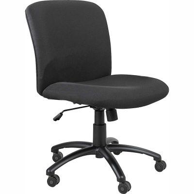 Big & Tall Mid Back Chair Black