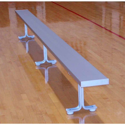 21' Aluminum Park Bench Without Back, Portable and/or Surface Mount
