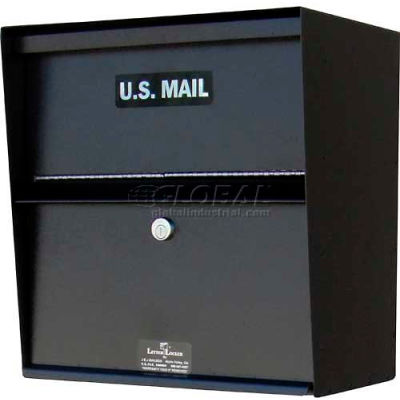 Jayco Wall Mount Horizontal Letter Locker Mailbox Tan