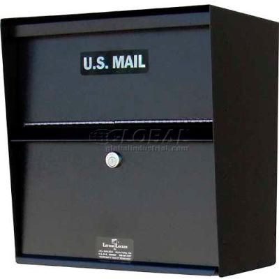 Jayco Wall Mount Horizontal Aluminum Letter Locker Mailbox Black