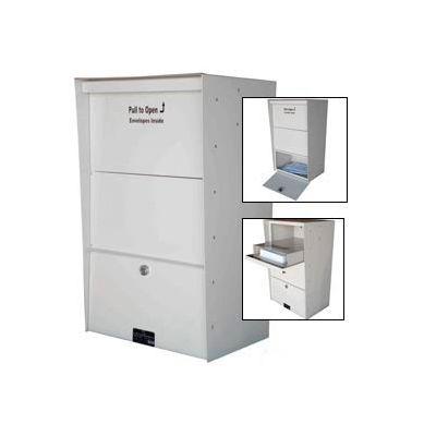 Jayco Wall Mount X-Large Aluminum Letter Locker Mailbox White