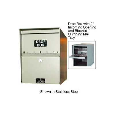Jayco Heavy Duty Drop Box Locker with 1 Incoming Slot and Envelope Slot Tan
