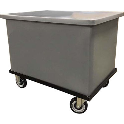Bayhead GY-ST-C Plastic Container With Lid and Dolly 28x22x20-1/2