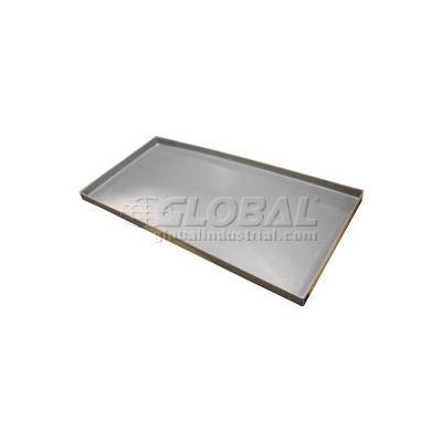 Rotationally Molded Plastic Tray 53x33x3 Gray