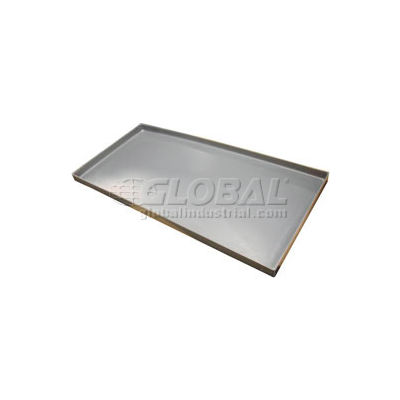 Rotationally Molded Plastic Tray 53x41X2 Gray