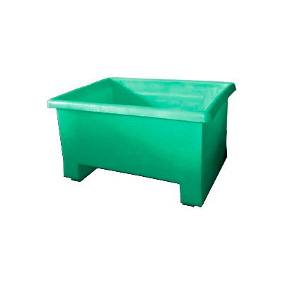 Bayhead TEX-24GREEN Stacking Plastic Container 32x24x18 600 Lb Cap. Green