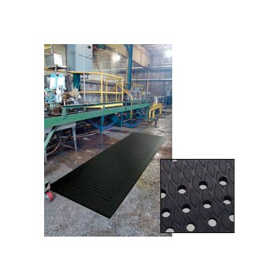 """Cushion Max™ Anti-Fatigue Mat w/Holes, 5/8"""" Thick, 24""""W Cut Length 3 Ft Up To 45 Ft, Black"""