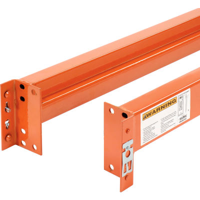 "Global Industrial™ Unslotted Steel Pallet Rack Beam, 120""L x 5-1/8""H, 5510 Lb. Cap., Set Of 2"
