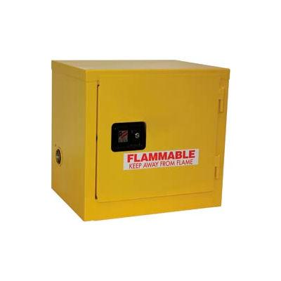 "Global Industrial™ Stackable Flammable Cabinet, Manual Close Single Door, 6 Gal.,23""Wx18""Dx22""H"