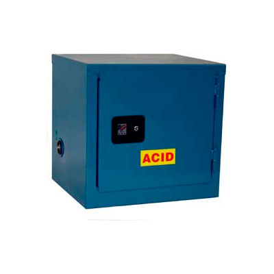Global Industrial™ Stackable Acid Corrosive Cabinet, Manual Close Sgl. Door 6 Gallon, 23x18x22