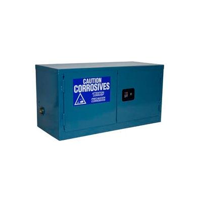 Global Industrial™ Stackable Acid Corrosive Cabinet Manual Close Double Door 11 Gallon 34x18x22