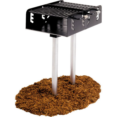 """Dual Grate Grill with Two 2-3/8"""" Dia. Posts (550 Sq. In. Cooking Surface)"""