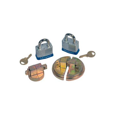 Justrite® 8510 Drum Lock Set with Padlocks for Steel Drums - Pair