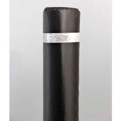 """50"""" Soft Polyethylene Bollard Cover - Black Cover/White Tapes"""