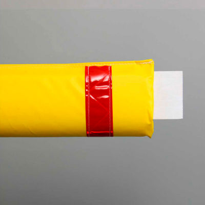 """50""""W Soft Nylon Gate Arm Cover - Yellow Cover/Red Tapes"""