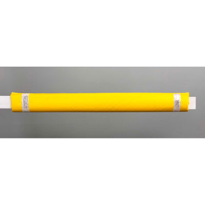 """50""""W Soft Nylon Gate Arm Cover - Yellow Cover/White Tapes - Pkg Qty 6"""