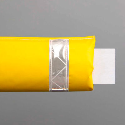 """72""""W Soft Nylon Gate Arm Cover - Yellow Cover/White Tapes - Pkg Qty 6"""