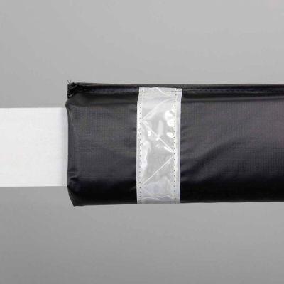 "108""W Soft Nylon Gate Arm Cover - Black Cover/White Tapes - Pkg Qty 6"