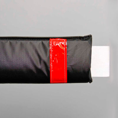 """108""""W Soft Nylon Gate Arm Cover - Black Cover/Red Tapes - Pkg Qty 6"""