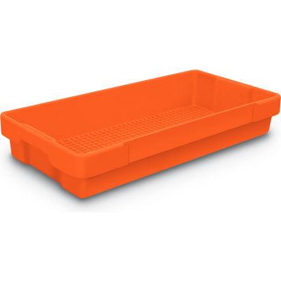 "Plastic Utility Tray Orange 26"" L X 12-1/2"" W X 4-1/2 H - Pkg Qty 5"