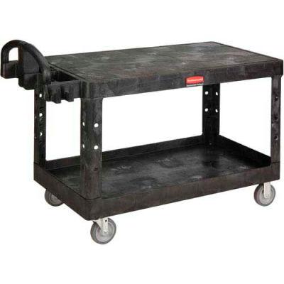 Rubbermaid® 4545 Flat Shelf Plastic Service & Utility Cart 54 x 25