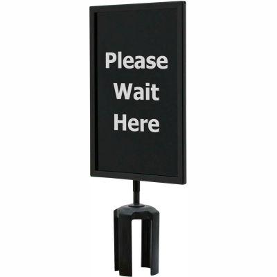 "Queueway Acrylic Sign - Please Wait Here 7X11"" (Single Side)"