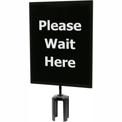 "Queueway Acrylic Sign - Please Wait Here 11X14"" (Single Side)"