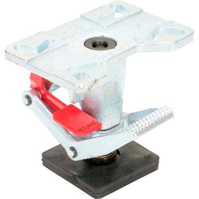 "Adjustable Height Steel Floor Lock FL-ADJ-810 for 6"" & 8"" Casters"