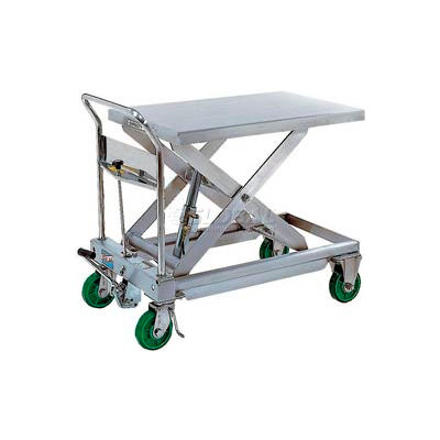 Stainless Steel Mobile Scissor Lift Table CART-1100-SS 1100 Lb. Capacity