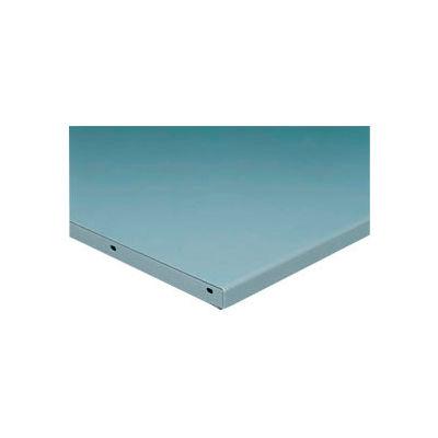 "72""W x 36""D x 1-3/4"" Thick Steel Square Edge Workbench Top - 12 Gauge Steel - Gray"