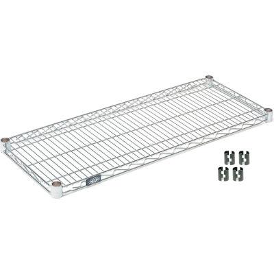"""Nexel® S3072C Chrome Wire Shelf 72""""W x 30""""D"""