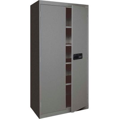 Sandusky Elite Series Keyless Electronic Storage Cabinet EA4E361872 - 36x18x72, Charcoal
