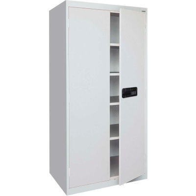 Sandusky Elite Series Keyless Electronic Storage Cabinet EA4E361872 - 36x18x72, Gray