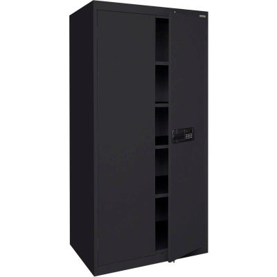 Sandusky Elite Series Keyless Electronic Storage Cabinet EA4E361872 - 36x18x72, Black