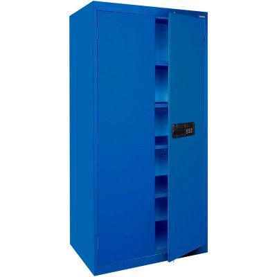 Sandusky Elite Series Keyless Electronic Storage Cabinet EA4E362472 - 36x24x72, Blue
