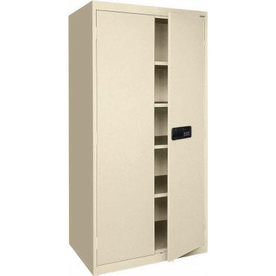 Sandusky Elite Series Keyless Electronic Storage Cabinet EA4E362472 - 36x24x72, Putty